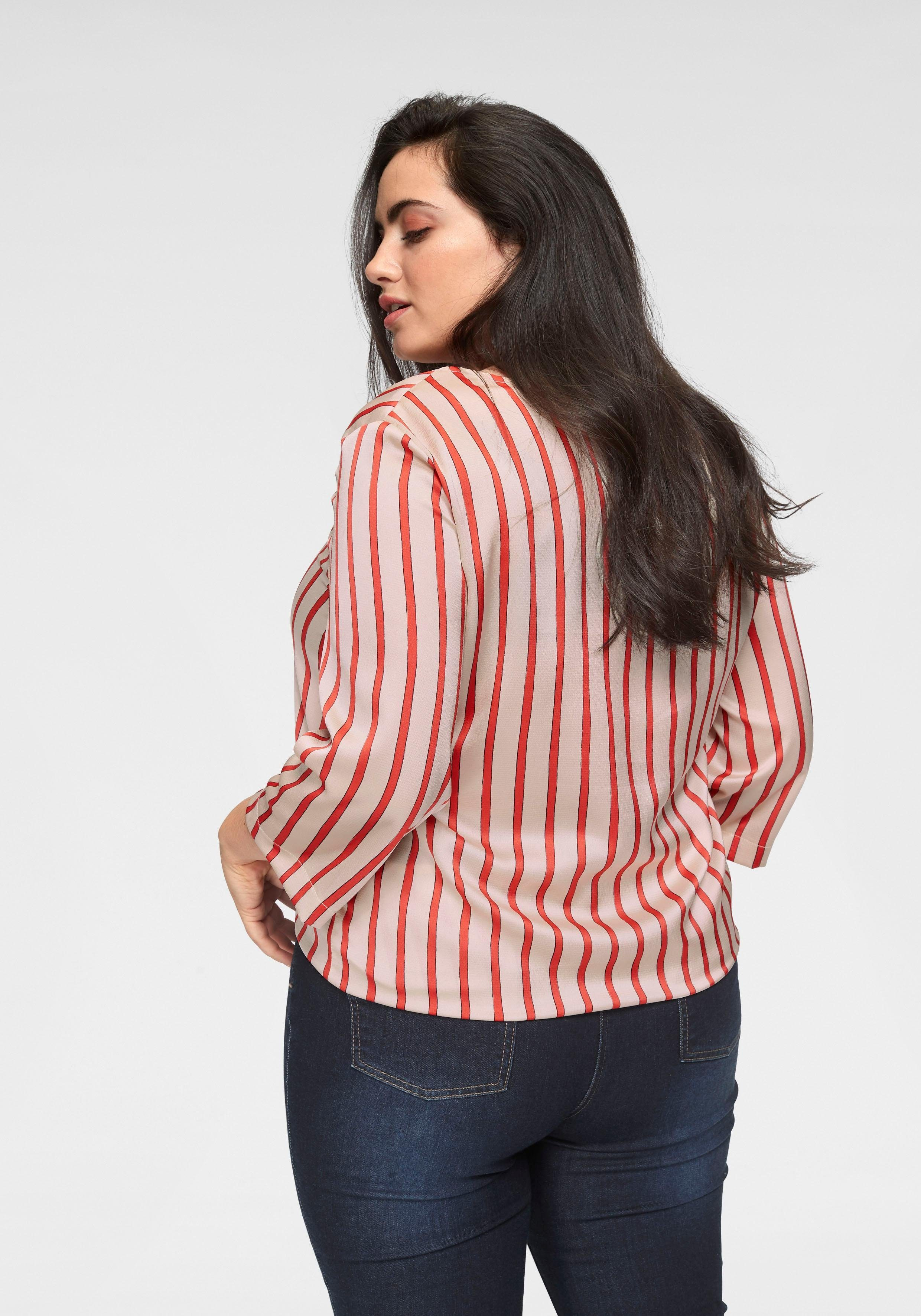 Collection Shirtbluse Saum Gmk Curvy Knoten Am Mit 2DHIEW9Y