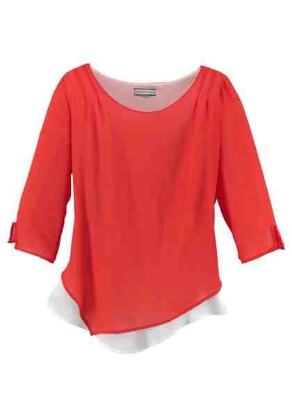 GMK Curvy Collection Shirtbluse mit 3/4-langen Ärmeln