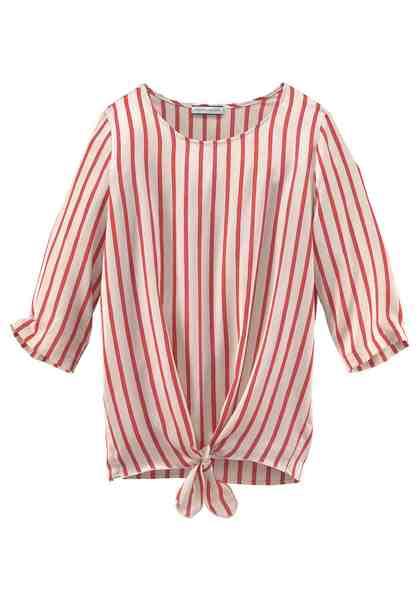 GMK Curvy Collection Shirtbluse mit Knoten am Saum