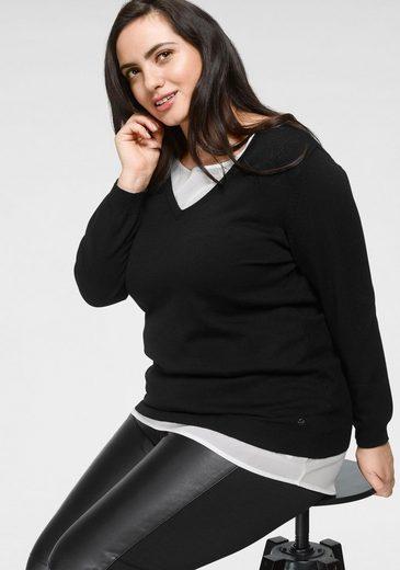 GMK Curvy Collection 2-in-1-Pullover mit Rückenausschnitt