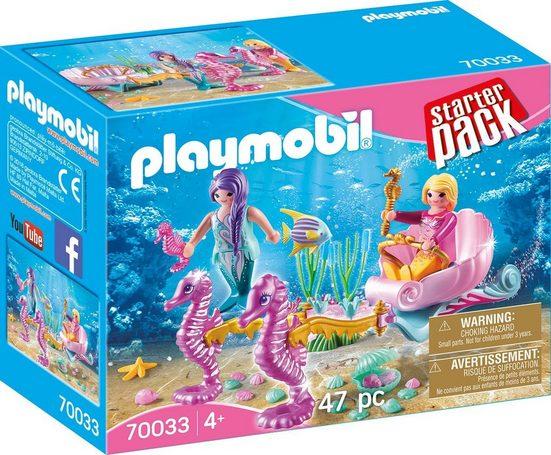 Playmobil® Konstruktions-Spielset »Seepferdchenkutsche (70033), Magische Welt der Meerjungfrauen«, Kunststoff