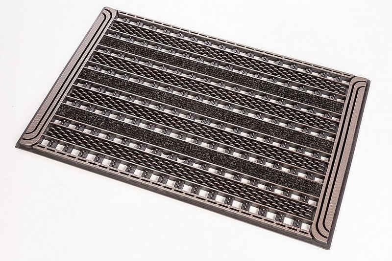 Fußmatte »GC Clean Gridiron«, CarFashion, rechteckig, Höhe 8 mm, In- und Outdoor geeignet