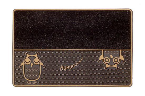 Fußmatte »DC Clean Eulen«, CarFashion, rechteckig, Höhe 8 mm, Fussabstreifer, Fussabtreter, Schmutzfangläufer, Schmutzfangmatte, Schmutzfangteppich, Schmutzmatte, Türmatte, Türvorleger, mit Spruch, In- und Outdoor geeignet