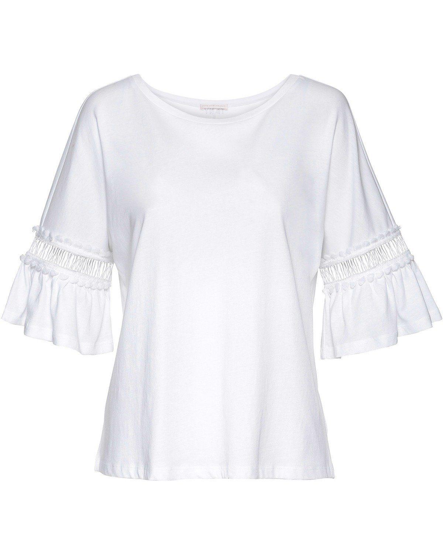 The Mercer N.Y. T-Shirt mit Häkeleinsatz