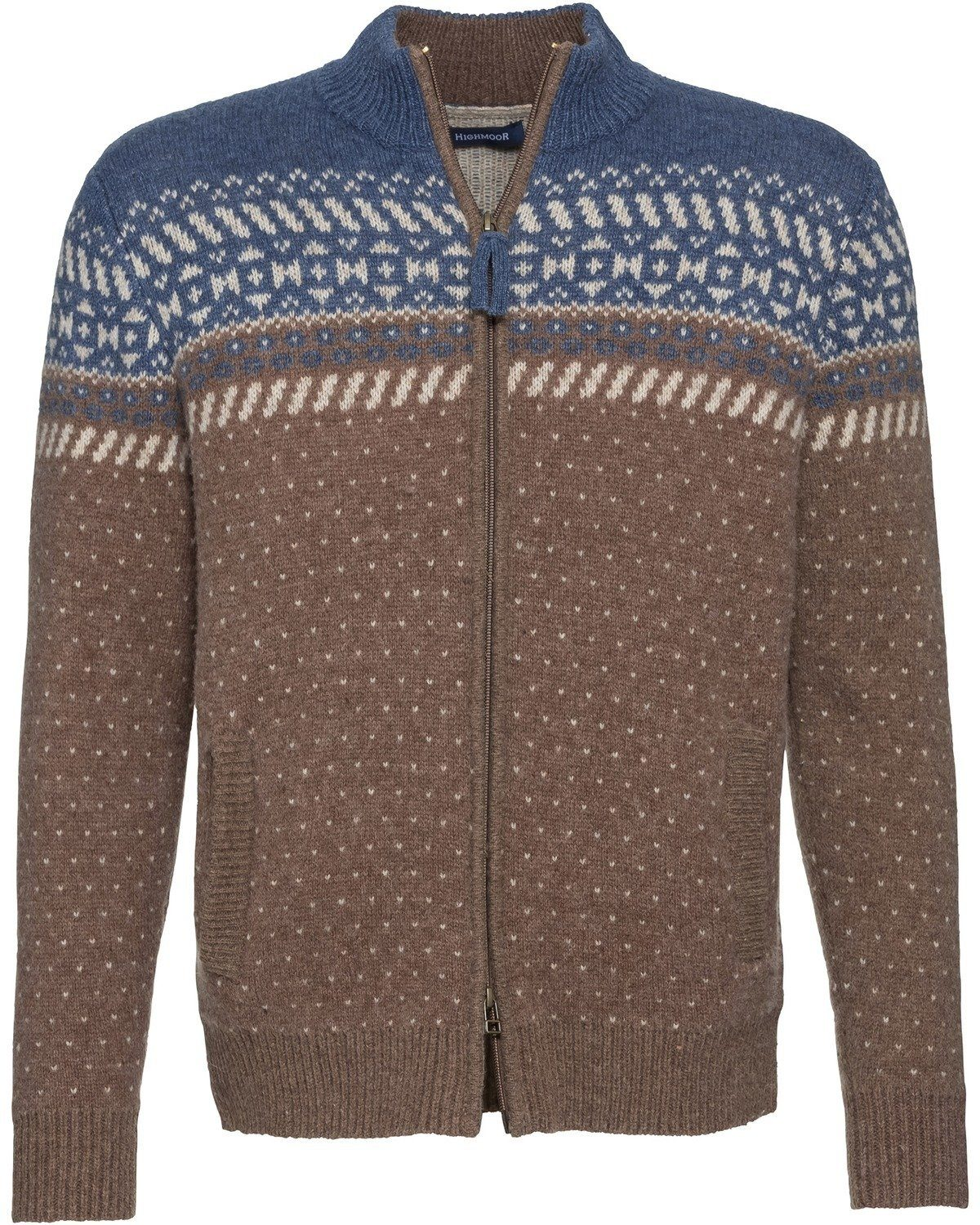 Highmoor Jacquard-Strickjacke