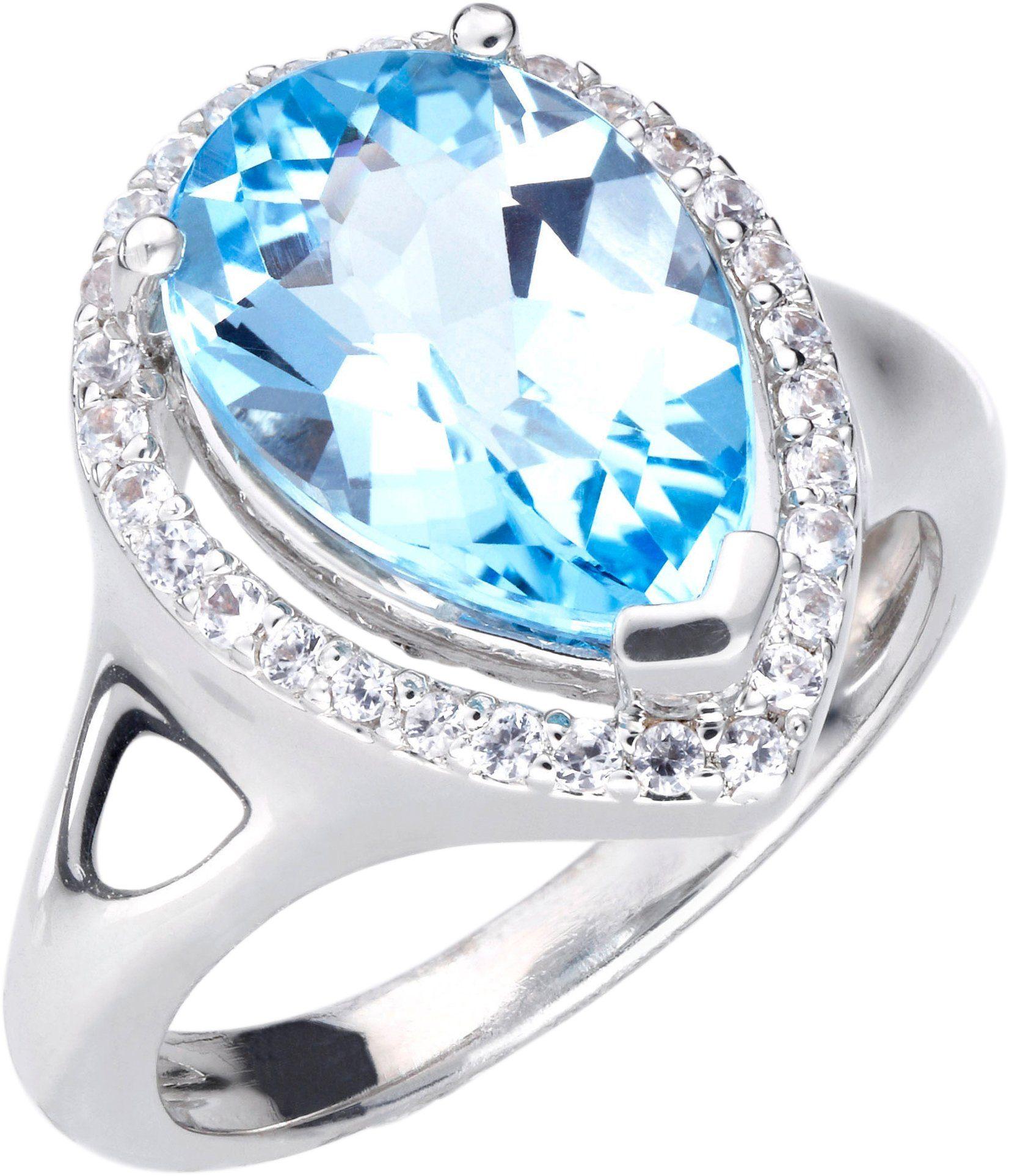 Lady Ring mit echtem Blautopas