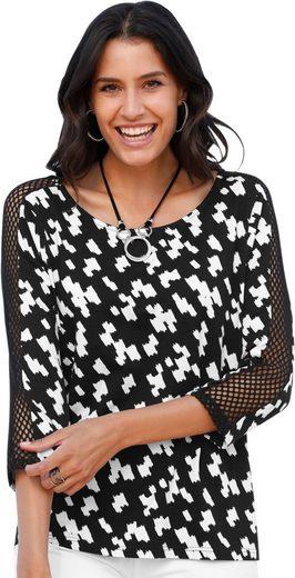 Classic Inspirationen Shirt mit dekorativen Netzeinsätzen