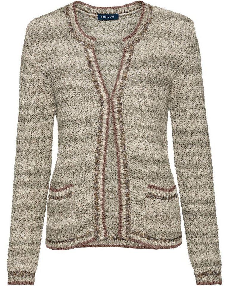 17d9c773e3 Highmoor Strickjacke mit Kontrast online kaufen | OTTO