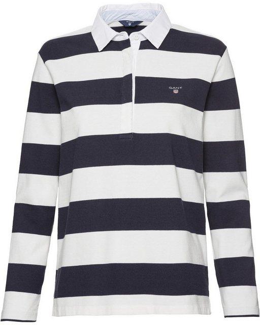 Gant Rugbyshirt mit Webkragen