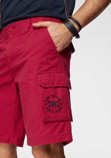 Tom Polo Cargoshorts2 Rot Team Tailor Logostickereien tlgMit ulwPkiXOZT