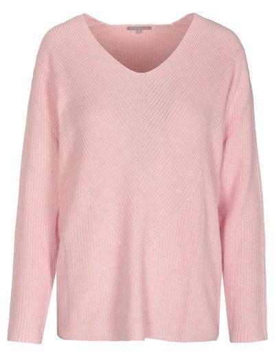 BASEFIELD V-Ausschnitt-Pullover »KATHRIN« mit Struktur-Muster auf der Front