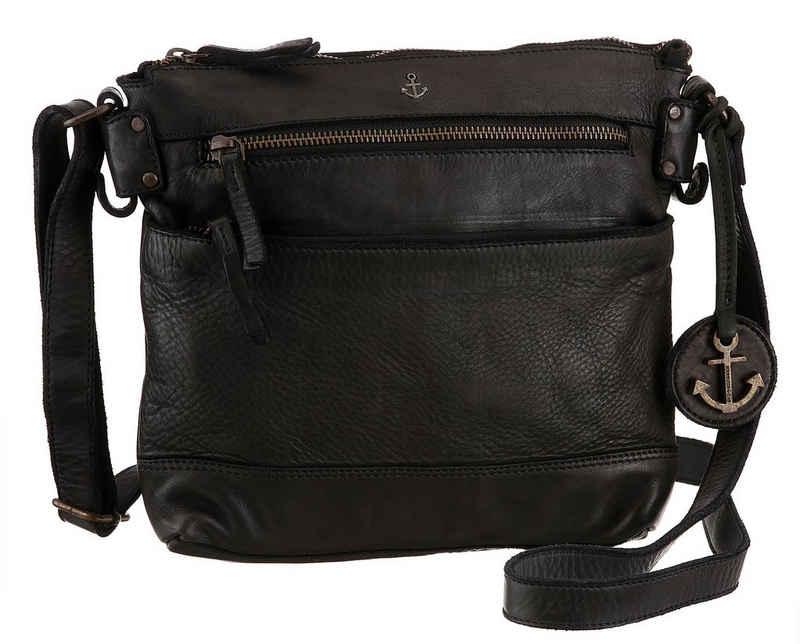 HARBOUR 2nd Umhängetasche »Isalie«, aus Leder mit typischen Marken-Anker-Label und Schmuckanhänger