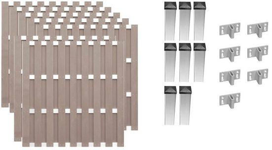 T&J Bohlenzaun »Jersey 5«, (Set), 7 Elemente, LxH: 1316x180 cm