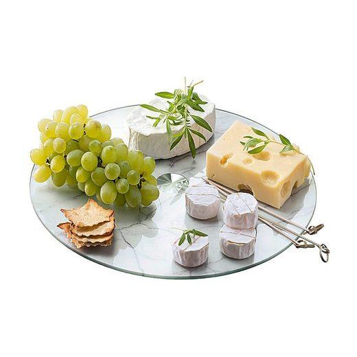 """LEONARDO Tortenständer »Glas Kuchen- & Tortenplatte """"Holzoptik"""" ø33 cm«"""