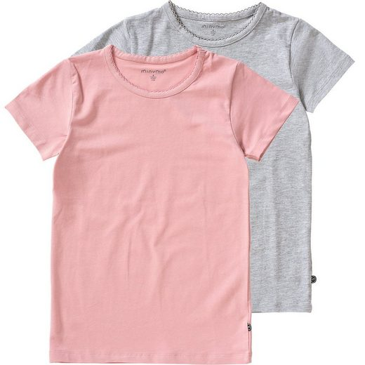 Minymo T-Shirt »T-Shirt 2er Pack für Mädchen«