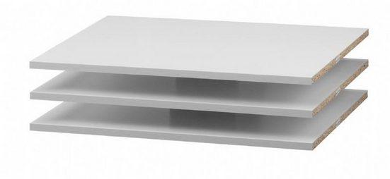 ebuy24 Kleiderschrank »Verona 3 extra Ablagen Breite 59 cm weiß.«