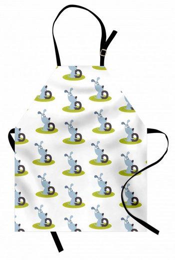 Abakuhaus Kochschürze »Höhenverstellbar Klare Farben ohne verblassen«, Natur Hunde mit D Letters Pattern