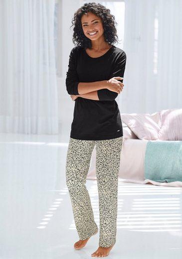 s.Oliver Bodywear Pyjama im Leo-Muster