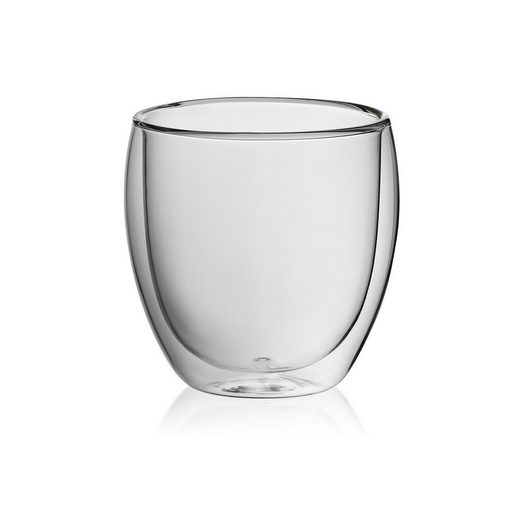kela Cappuccinotasse »Cortona«, Glas