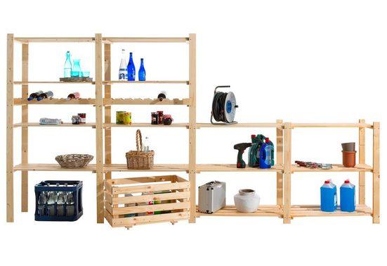 Regalelement »Zusatzböden, 2 Stück, Holz-Allzweckregal«, Set 2-tlg., B/T: 85x40 cm, Zusatzböden, Holz-Allzweckregal