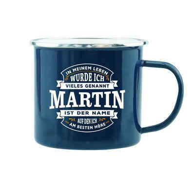 HTI-Living Becher »Echter Kerl Emaille Becher Martin«, Emaille