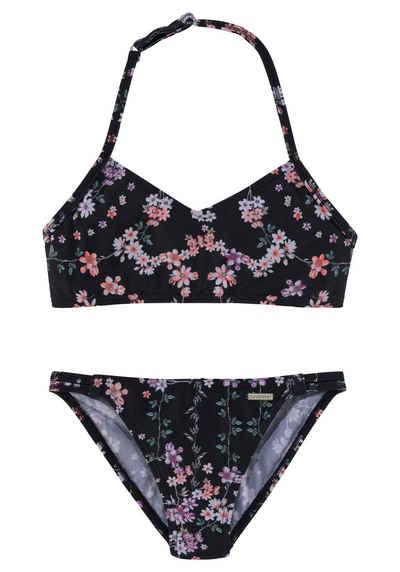Sunseeker Bustier-Bikini mit sommerlichem Print