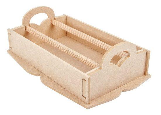 VBS Aufbewahrungsbox, MDF-Holz, (9-tlg), für Deco-Tape, 9-tlg