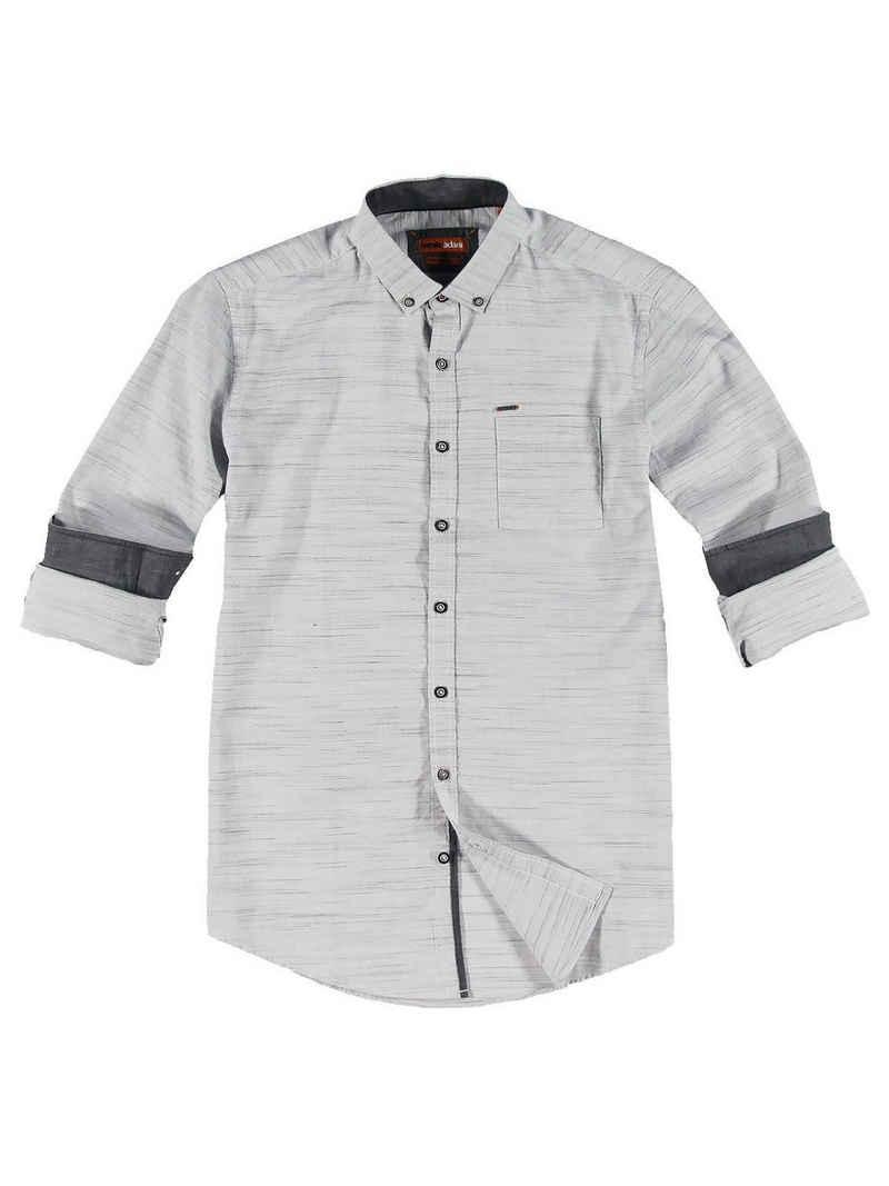 emilio adani Hemd »Langarm-Hemd mit feiner Struktur«