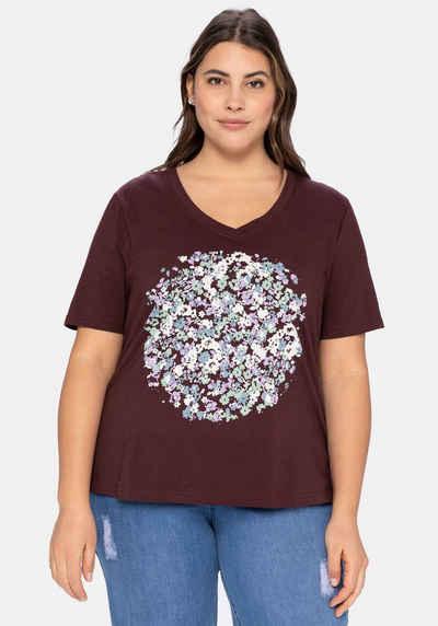 Sheego T-Shirt aus Baumwolle, mit Frontdruck
