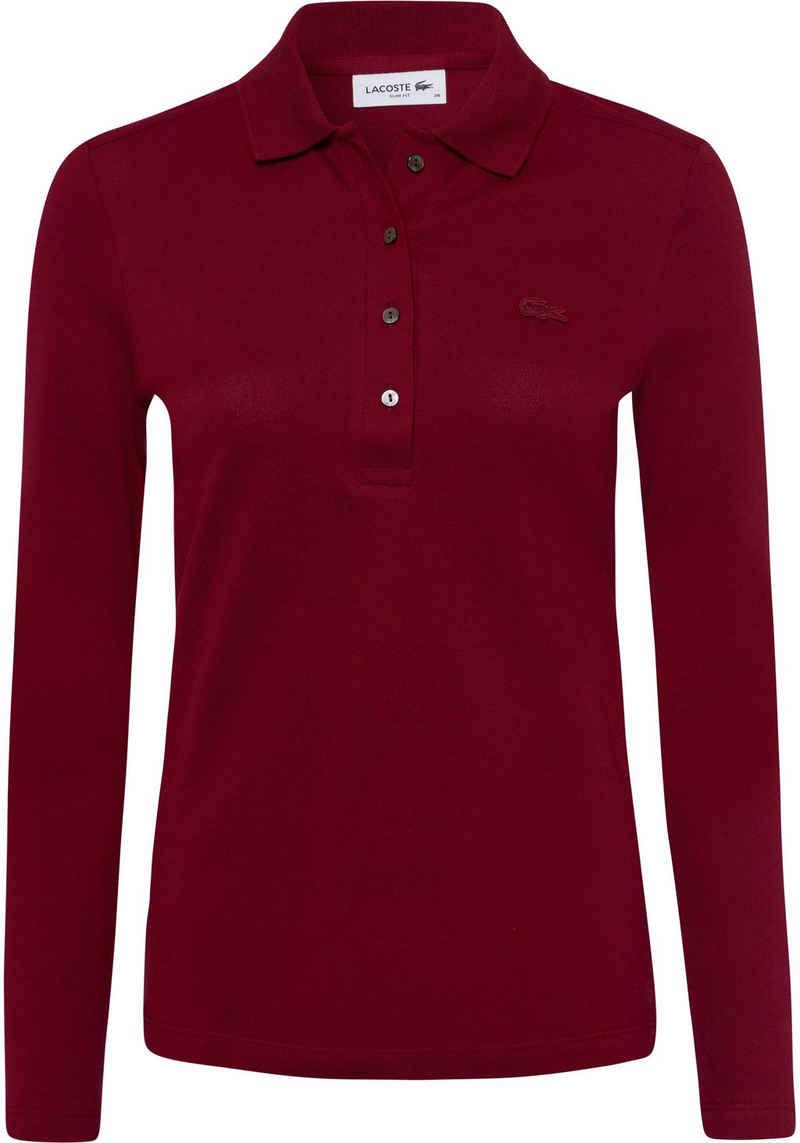 Lacoste Langarm-Poloshirt im klassischen Stil