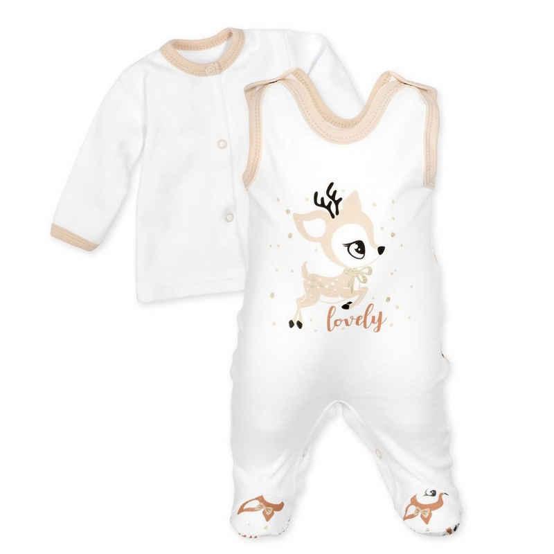 Baby Sweets Shirt, Strampler, Jäckchen, Mütze & Schühchen »2tlg Set Strampler + Shirt Lovely Deer« (2-tlg)