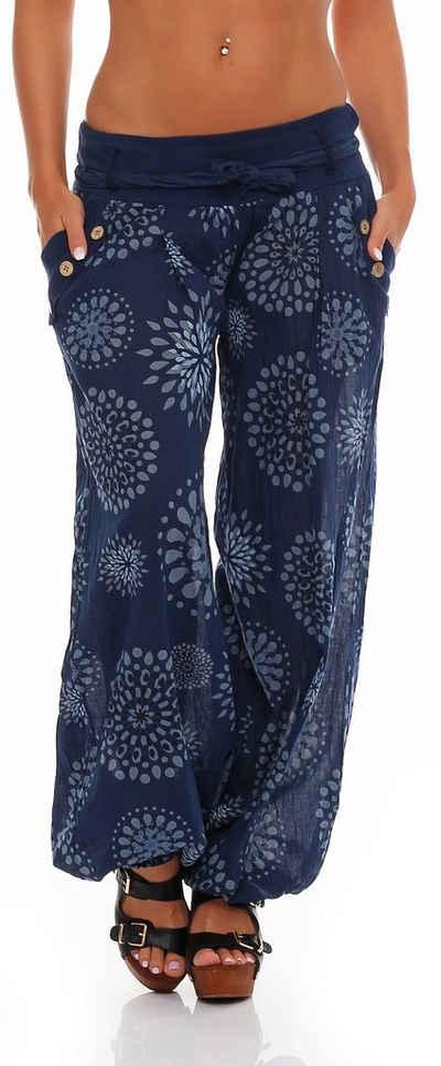 malito more than fashion Haremshose »malito Damen Pumphose mit Print, leichte Stoffhos« (1-tlg) mit Print