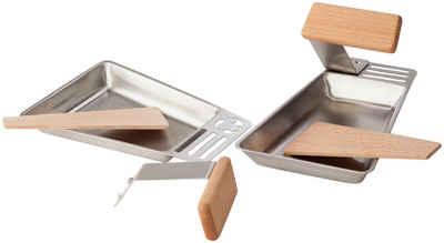 hecht international Grillpfanne »Gustico«, Edelstahl, mit Holzspatel, 2 Stk.