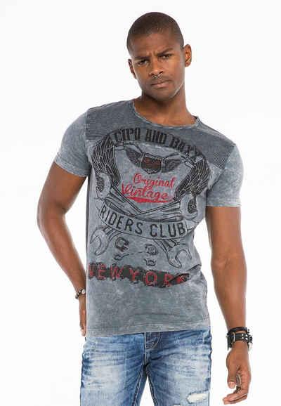 Cipo & Baxx T-Shirt mit tollen Details
