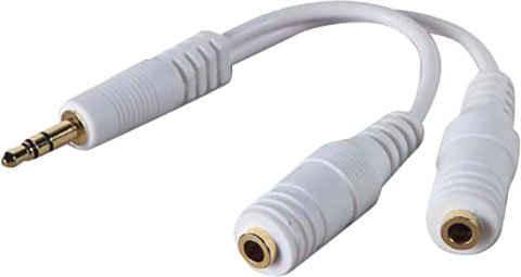Belkin »Lautsprecher- und Kopfhörer-Splitter (3,5mm)« Audio- & Video-Adapter 3,5-mm-Klinke