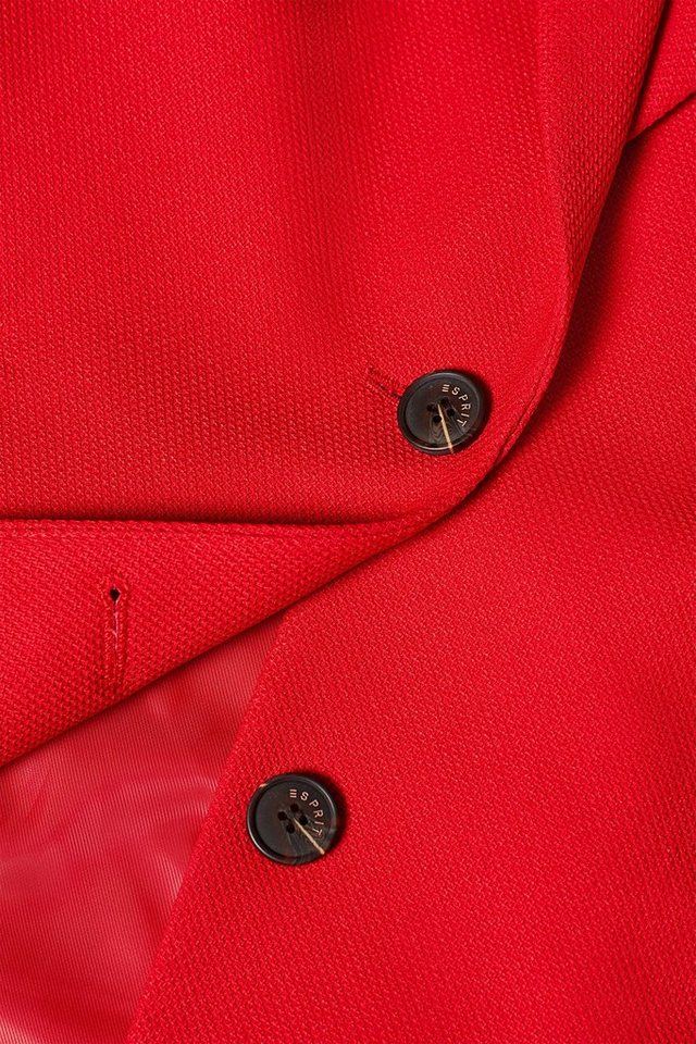 Esprit Strukturierter Blazer-Mantel mit Stretchkomfort