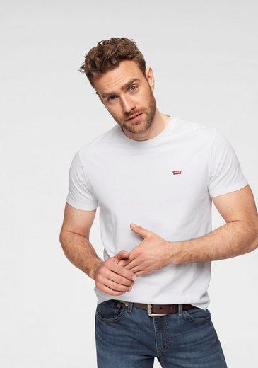 Levi's® T-Shirt mit Batwing-Logo-Badge