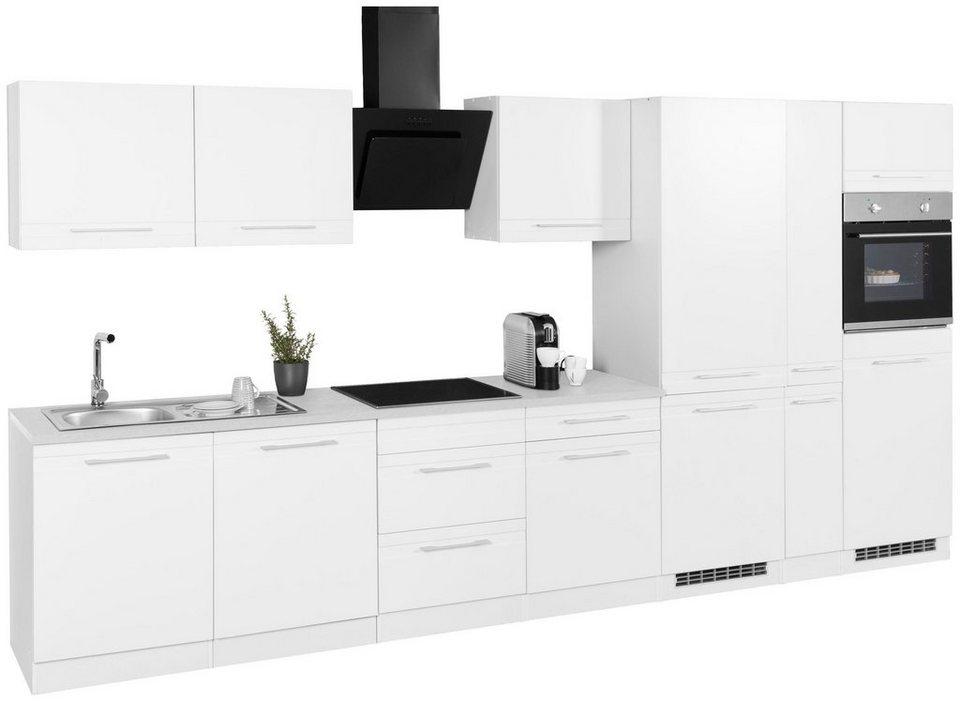 held m bel k chenzeile mit e ger ten mito breite 390 cm online kaufen otto. Black Bedroom Furniture Sets. Home Design Ideas