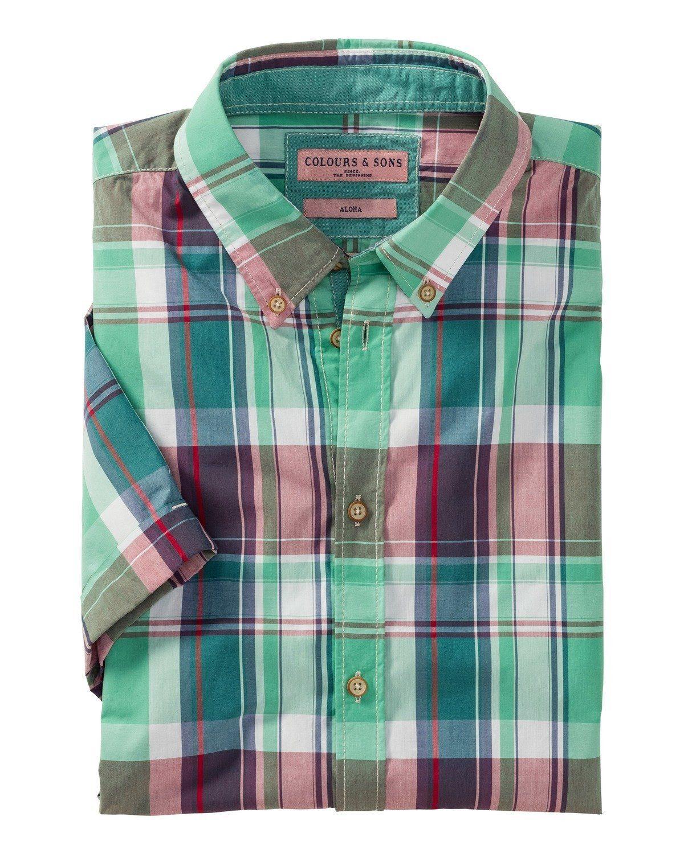 Sons Halbarm karohemd Online Coloursamp; Kaufen O80Pwnk
