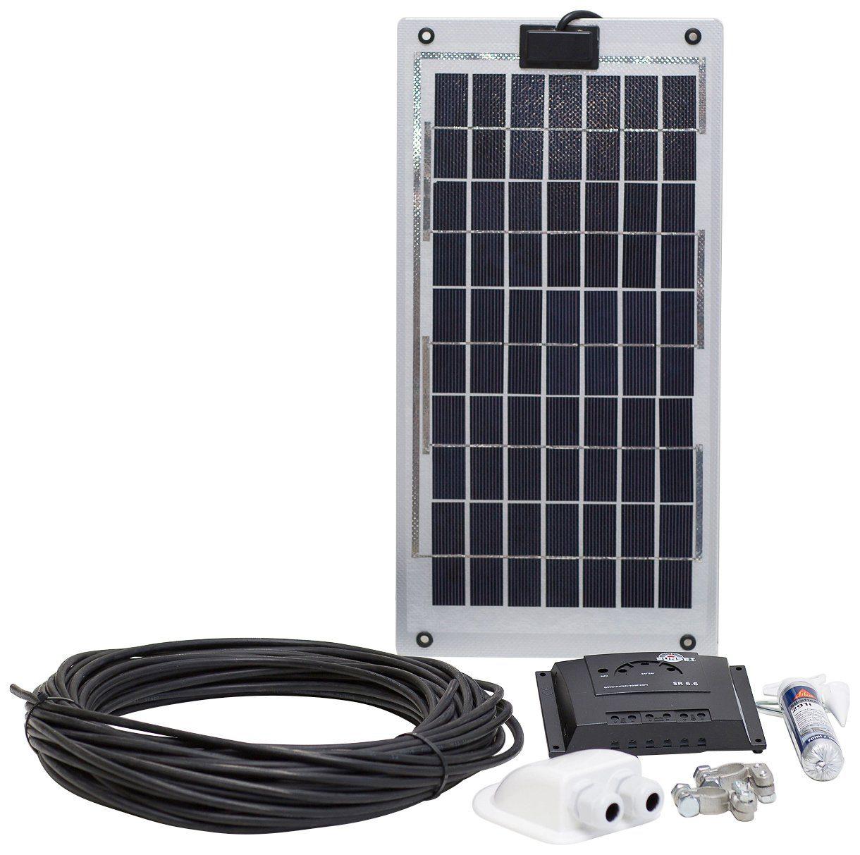 SUNSET Set: Solarstrom-Set für Boote, Yachten oder Caravan, 10 Watt