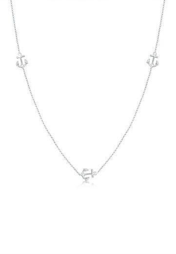 Elli Collierkettchen »Erbskette Anker Maritim Hanseatisch 925er Silber«