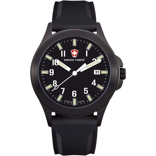 Swiss Timer Armbanduhr Carbon