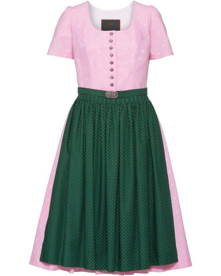 Damen Reitmayer  Midi Kurzarm-Dirndl rosa | 04059751067417