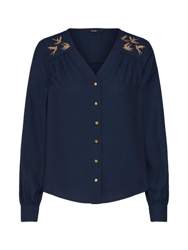 Vero Moda Klassische Bluse »VMDEA L/S TOP D2 LCS« Stickerei   Bekleidung > Blusen > Klassische Blusen   Blau   Vero Moda