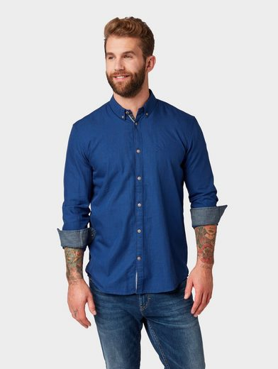TOM TAILOR Hemd »Hemd mit Glencheck-Muster«