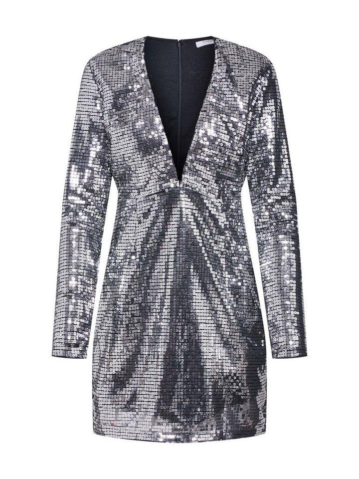 Damen Glamorous Abendkleid LADIES DRESS Pailletten silber | 05057576152522