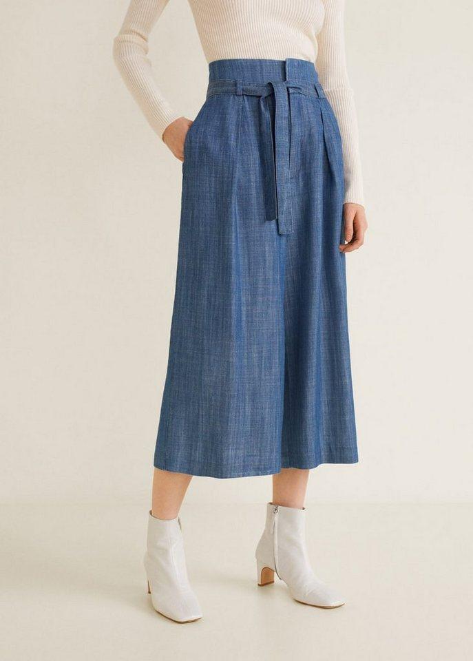 Damen MANGO Soft flare trousers blau | 08435238868481