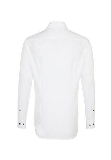 Kent Uni »slim« Seidensticker kragen Slim Langarm Weiß Businesshemd fvY6bgy7