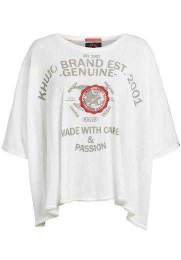 khujo Oversize-Shirt »VEVA BRAND« mit Print
