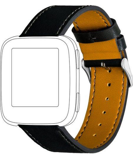 topp Accessoires Ersatz-/Wechselarmband »Leder mit Ziernaht für Fitbit Versa«